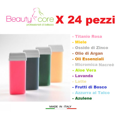 Cera a RULLO Beautycore 100ml x24pz - ricarica - varie fragranze - Made in Italy