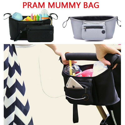 Pram Pushchair Stroller Accessories Buggy Mummy Bag Cup Bottle Holder Organise