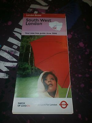 London Transport South West London Bus Map July 2001 100