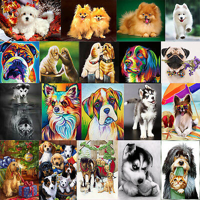 Dog Animal DIY 5D Diamond Embroidery Painting Cross Stitch Craft Home Art Decor