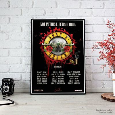 Guns N' Roses - Fine Art Poster - Not In This Lifetime Europe Tour 2017 High Res