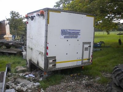 8'x7' storage container / lorry body / workshop / shed, fully racked....£350+VAT