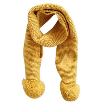 Baby Neck Winter Warm Solid Color Scarf Boy Girl Knitted Scarf (yellow) I4G5