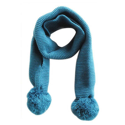 Baby Neck Winter Warm Solid Color Scarf Boy Girl Knitted Scarf (blue) K1I3