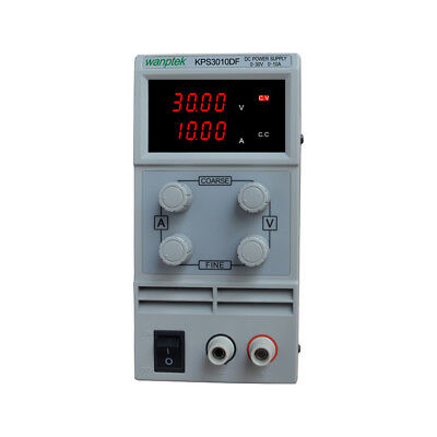 DC Power Supply 0-30V 10A Adjustable Dual Digital Variable Precision Lab Grade