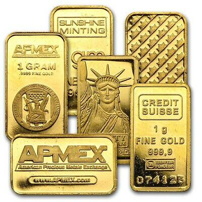 1 gram Gold Bar - Secondary Market - SKU #12477