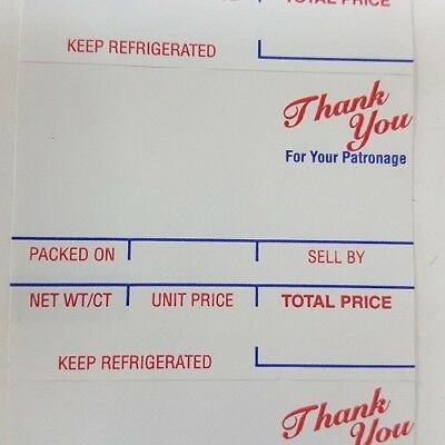 """Hobart SP-80; SP-1500 (2.25"""" x 1.75"""") Style J (Style 1) Scale Labels 6 rolls"""