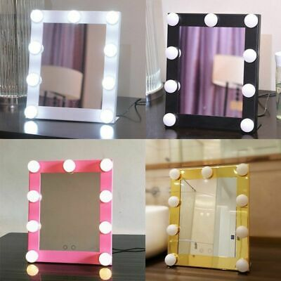 Vanity Lighted Hollywood Makeup  Beauty Mirror W/ LED Lights Dimmer Stage LOT BP
