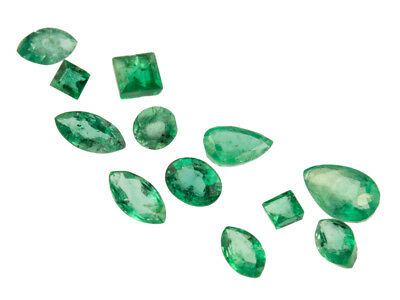 Emerald, Mixed Shapes, Pack of 12,