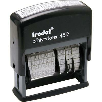 Trodat 4817 Self Ink Dial A Phrase Date Stamp -Faxed,paid,received,checked Etc