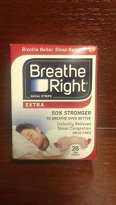 Breathe® Right Nasal Strips Extra 26 Tan Strips One Size Adult Sealed Box