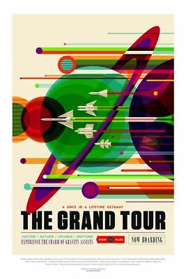 Grand Tour NASA, Mission Poster Space Travel Art Print Picture A3 A4