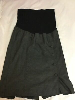 EUC! A pea in the pod Maternity career knee length Skirt fully lined Size SMALL