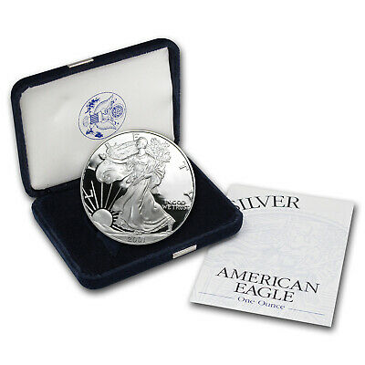 2001-W 1 oz Proof Silver American Eagle (w/Box & COA) - SKU #1057