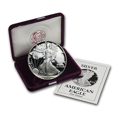 1988-S 1 oz Proof Silver American Eagle (w/Box & COA) - SKU #1085