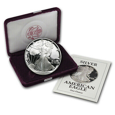 1991-S 1 oz Proof Silver American Eagle (w/Box & COA) - SKU #1077