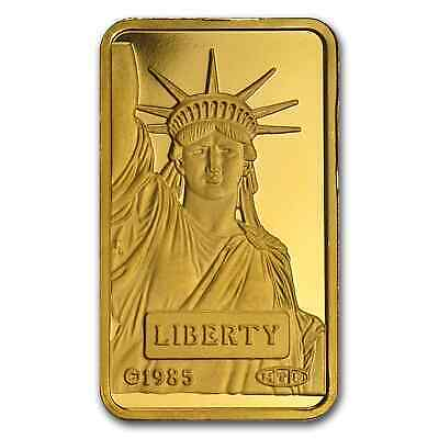 10 gram Gold Bar - Credit Suisse Statue of Liberty - SKU #45921