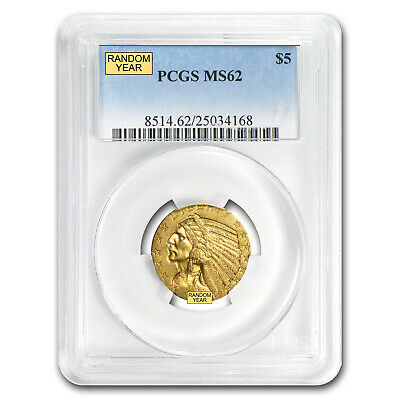 $5 Indian Gold Half Eagle MS-62 PCGS - SKU #12920