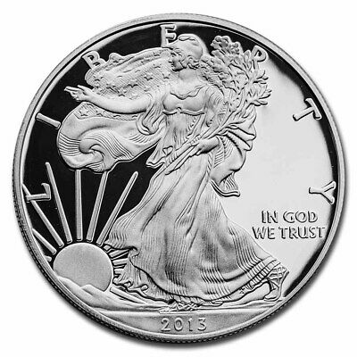2013-W 1 oz Proof Silver American Eagle (w/Box & COA) - SKU #73855