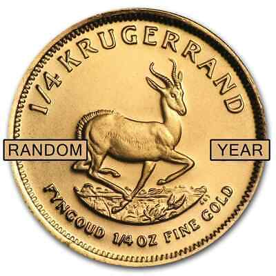 South Africa 1/4 oz Gold Krugerrand (Random Year) - SKU #1017