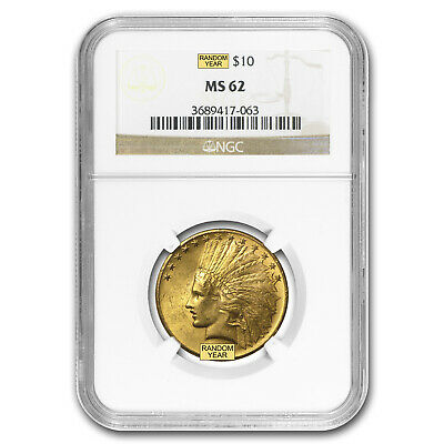 $10 Indian Gold Eagle MS-62 NGC (Random) - SKU #23200