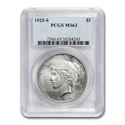 1925-S Peace Dollar MS-63 PCGS - SKU #4836