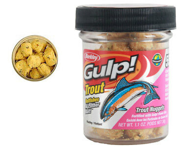 New Berkley Gulp Alive Trout Nugget Chunky Cheese Ships to NZ Only