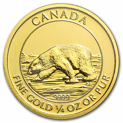 2013 Canada 1/4 oz Gold $10 Polar Bear BU - SKU #83205