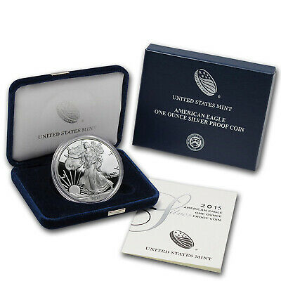 2015-W 1 oz Proof Silver American Eagle (w/Box & COA) - SKU #87165