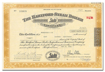 Hartford Steam Boiler Inspection and Insurance Company Stock Certificate