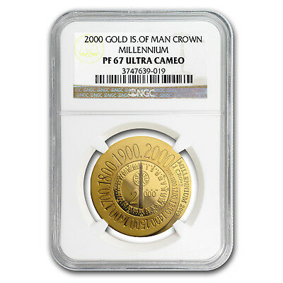 2000 Isle of Man Proof Gold 1 oz Millennium PF-67 NGC