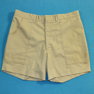 Vintage 50s/60s RETRO Brown Military Boy Scout Camping Shorts Mens M/L 34