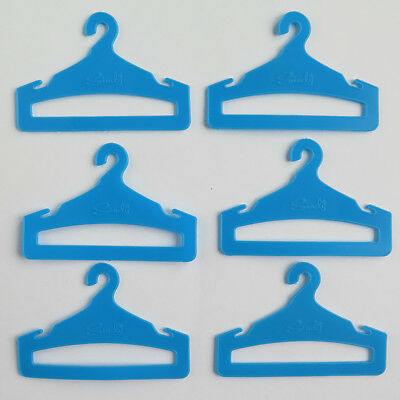 Sindy 6x BLUE CLOTHES HANGERS #1 | Vintage Pedigree Sindy Doll | Wardrobe