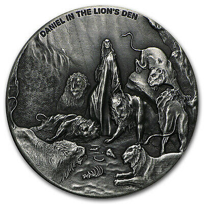 2016 2 oz Silver Coin - Biblical Series (Daniel in Lion's Den) - SKU #95452