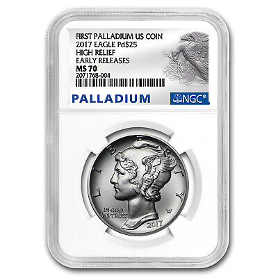 2017 1 oz Palladium American Eagle MS-70 NGC (Early Releases) - SKU #152023