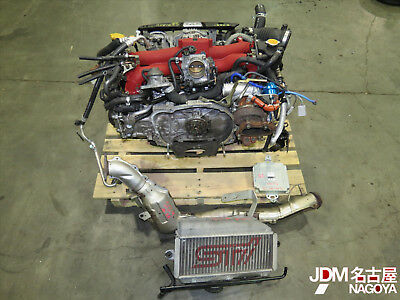 JDM Subaru Forester SG9 STi EJ255 2.5L Engine, M7760 TOMEI ARMS Turbo Motor ONLY