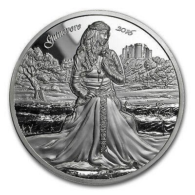 2016 Cook Islands 2 oz Silver Ultra High Relief Lady Guinevere - SKU #150049