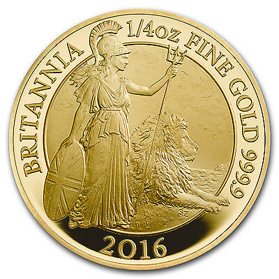 2016 Great Britain 1/4 oz Proof Gold Britannia - SKU #100951