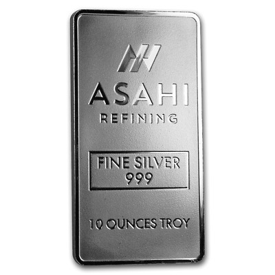 10 oz Silver Bar - Asahi (Serialized) - SKU #90498