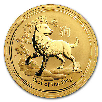 2018 Australia 1 oz Gold Lunar Dog BU - SKU #154328