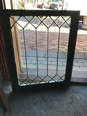 Sg 1626 Antique Leaded Glass Window 22.25 X 27.5