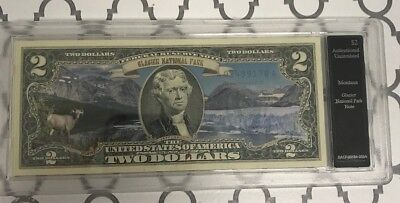 Glacier National Park $2 Colored Bill - Genuine Legal Tender * FREE SHIPPING*