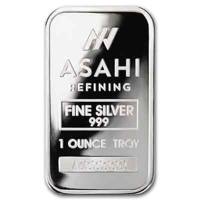 1 oz Silver Bar - Asahi (Serialized) - SKU #90497