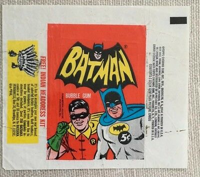 1966 Topps Batman Trading Cards Wrapper