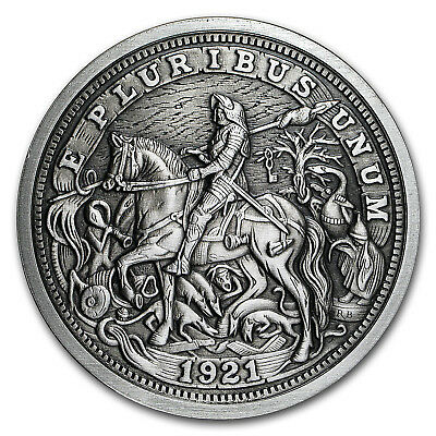 5 oz Silver Antique Hobo Nickel (Knight, Death and The Devil)