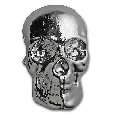 10 oz Silver Skull - Atlantis Mint - SKU #152274