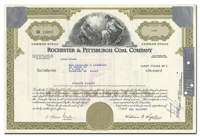 Rochester & Pittsburgh Coal Company Stock Certificate