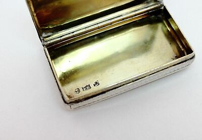 Antique Georgian Sterling Silver Snuff Box Francis Clark 1837