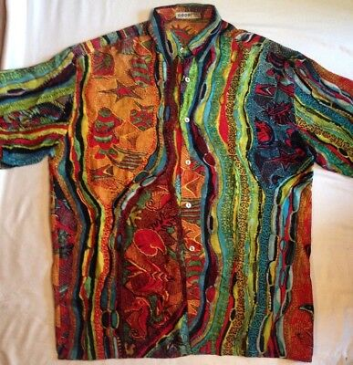 Vintage COOGI Silk Shirt, Crazy Design, Notorious BIG, Fresh Prince