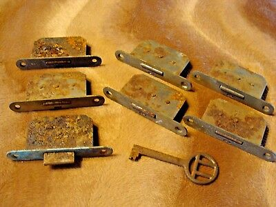 Lot Antique Made In Germany Cabinet Mortise Locks Key Steampunk Industrial